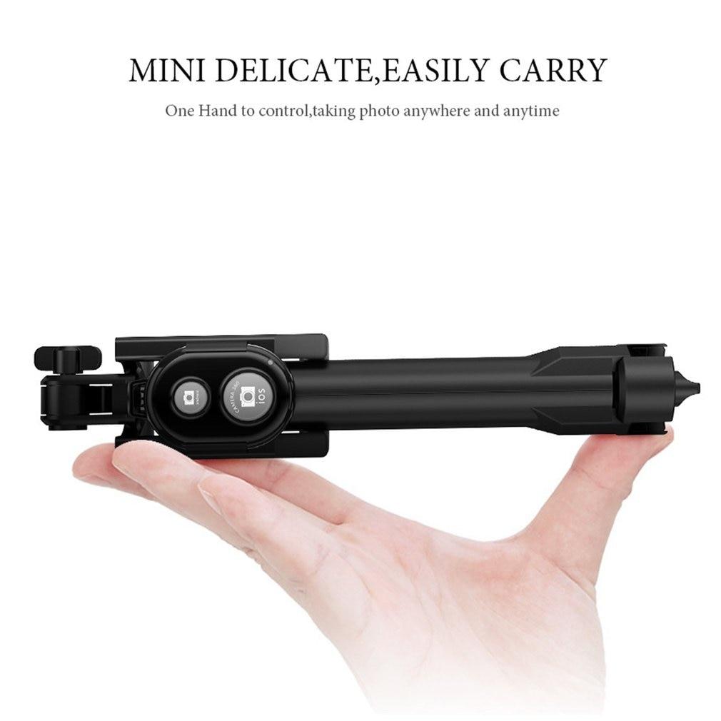 3 en 1 sans fil Bluetooth Selfie bâton poche monopode obturateur à distance pliable Mini trépied pour iPhone XR 8X7 6s Plus Xiaomi