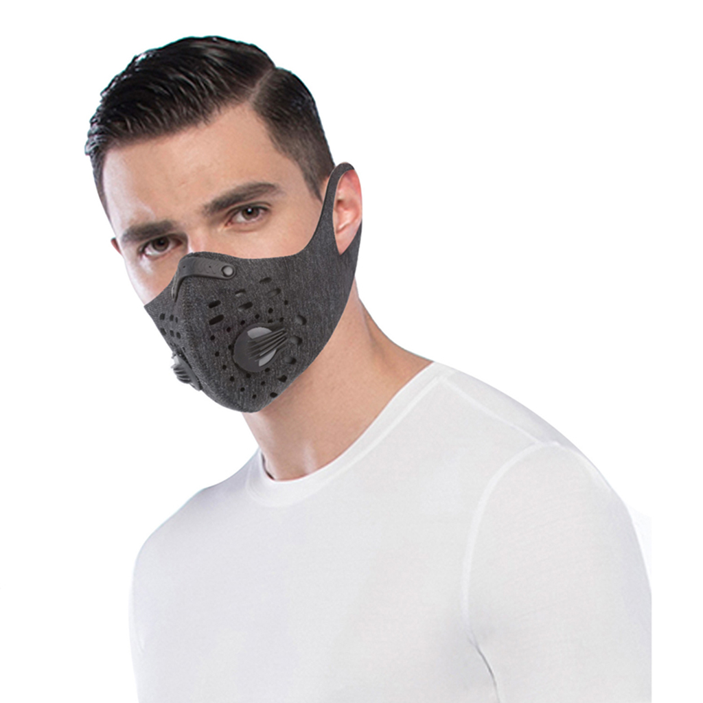 Motorcycle Cycling Half Face Mask With Filter Activated Carbon Mask