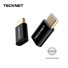 TeckNet USB Type C OTG Adapter Type C Male To Micro USB Female Cable Vonverters For Macbook Samsung S10 Huawei Xiomi TypeC USB(China)