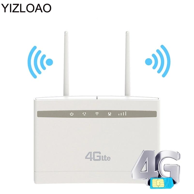 YIZLOAO YIZLOAO Unlock 4G Gateway 150Mbps Wifi Router 4G LTE CPE Wi fi Router with LAN Port Support SIM Card Slot Wifi Hotspot