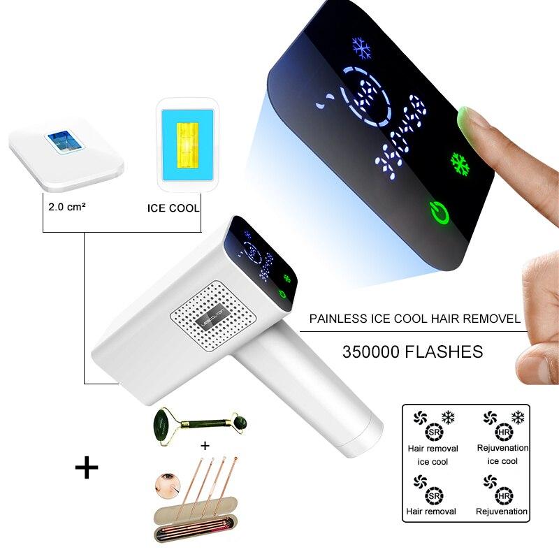 Remoção do Cabelo Dispositivo de Remoção do Cabelo Facial a Laser 4 em 1 Lescolton Máquina Depiladora Gelo Frio 350000 Flashes Dispositivo de Biquíni Aparador Ipl
