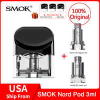 Original SMOK Nord Replacement Pod Cartridge 3ml Nord Mesh /Mesh-MTL  /Regular/Ceramic Coils for NORD Pod vape Kit e- cigarette