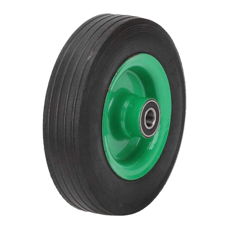 6 Inch Explosion-Proof Tire Wear-Resistant Wheel Roller Replacement Industrial Grade Rubber Caster For Transportation