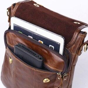 Image 4 - ZZNICK Genuine Cowhide Leather Men Bag Messenger Bags Handbags Flap Shoulder Bag 2020 Men Travel New Fashion Crossbody Bag