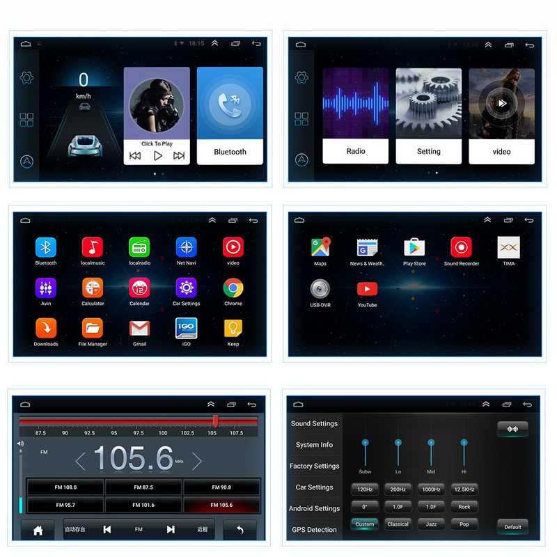 """7 """"Universal 2 din coche reproductor Multimedia Android 8,1 bluetooth Estéreo AutoRadio de la pantalla táctil para Volkswagen Nissan Kia toyota"""