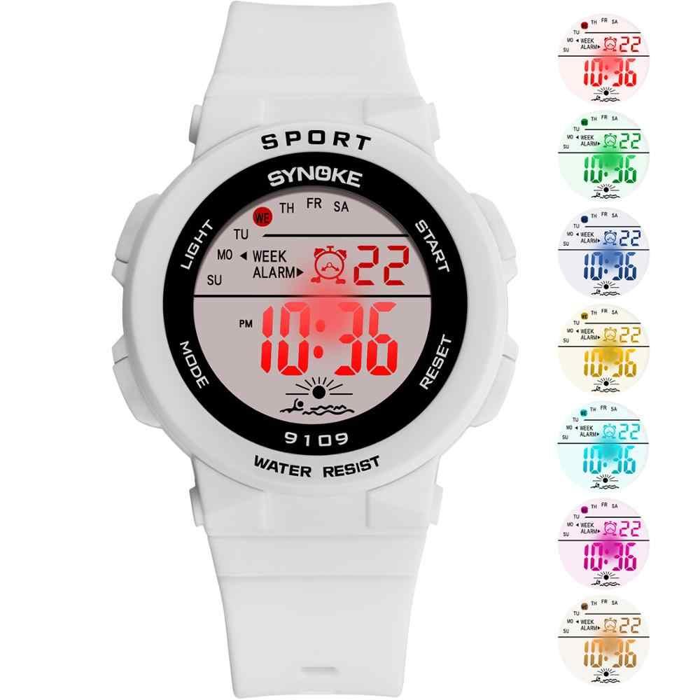 on sale a1e59 d12d8 SYNOKE ファッション 50 メートル防水学生子供腕時計子供ボーイズガール Led アラーム日付カジュアル腕時計スポーツ腕時計