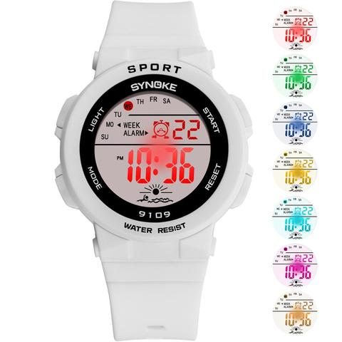 SYNOKE Fashion 50M Waterproof Students Kids Watches Children Boys Girls Digital LED Alarm Date Casual Watches Sport Wrist Watch Islamabad