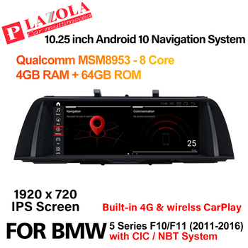 Android 10 Car Multimedia Navigation GPS Player For BMW 5 Series 520i 525i 528i F10 F11 CIC NBT CarPlay BT Car Audio Autostereo image