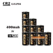 10 sztuk/partia 400mAh CR2 baterii 3v LiFePO4 akumulator 15266 CR2 bateria w/bateria pudełko ochronne