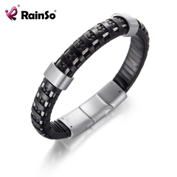 Magnetic Energy Negative ions Hard leather Bracelets Jewelry for Men 1