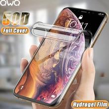Capa completa filme de hidrogel para айфона iphone 11 12 pro xs max mini protetor de tela para iphone se 2020 xr x 107 6s 8 plus protetores de tela filme pelicula não vidro vidro