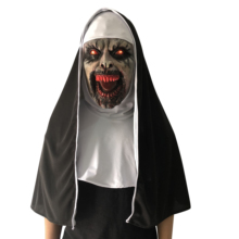 The Conjuring 2 Nun Horror luminous Mask Cosplay Scary Latex Masks With Headscarf Full Face Helmet Halloween Party Props