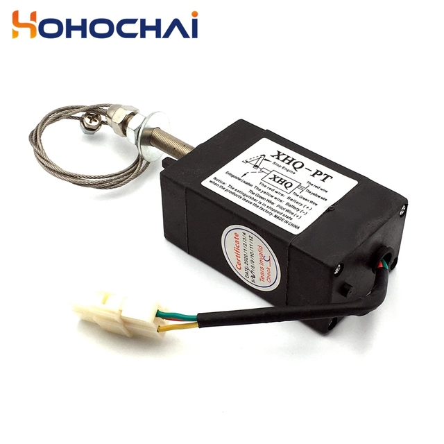 XHQ-PT 12V 24V Power Off pull Type Diesel Engine Accessory Stop Solenoid 3