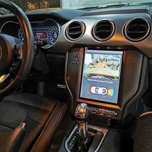 Tesla sistema Android 8,1 auto radio Multimedia navegación GPS para Ford Mustang 2015, 2016, 2017, 2018, 2019 reproductor estéreo unidad de cabeza