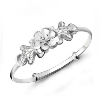 Woman Adjustable Cuff Bracelet Jewelry 925 Silver Jewelry