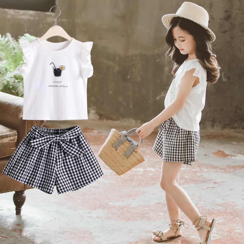 2020 Bambini di estate Del Bambino Vestiti Della Ragazza Set T shirt + Pants 2Pcs Bambini Vestito Per Vestiti Per Ragazze Vestito 4 5 6 7 8 9 10 11 12 anni