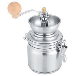 Ręczny młynek do kawy ze stali nierdzewnej młynek do przypraw ręczny młynek do domu frezarka akcesoria do kawy w Ręczne młynki do kawy od Dom i ogród na
