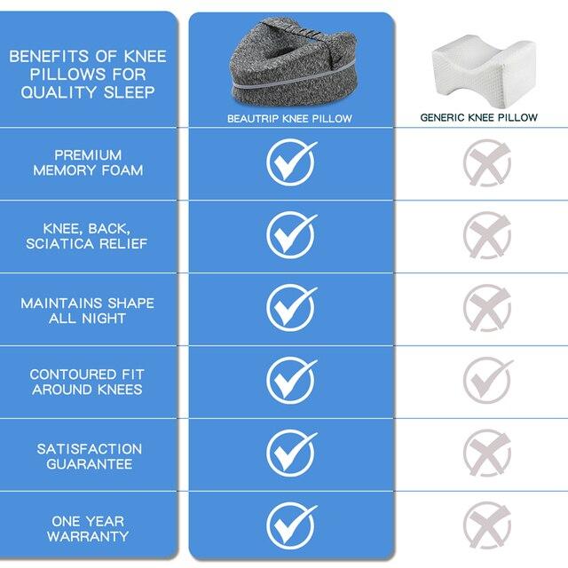 Oreiller orthop dique pour dormir mousse m moire de forme jambes positionneur oreillers genou soutien coussin