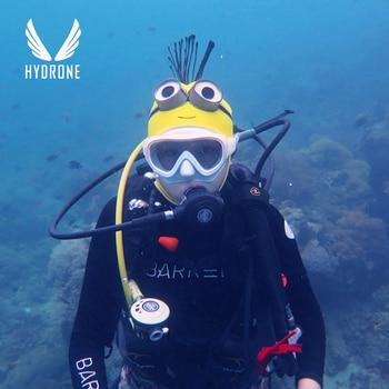Máscara de buceo Scuba Snorkel de neopreno de 3MM Minions equipo de buceo capucha sombrero casco bajo el agua protector solar, anti-UV caliente Apnea