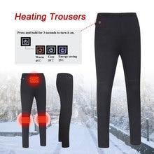 Зимние теплые брюки с электрическим подогревом, брюки с подогревом, горячий компресс, физиотерапевтическая ткань с подогревом, черные хлопковые электрические брюки