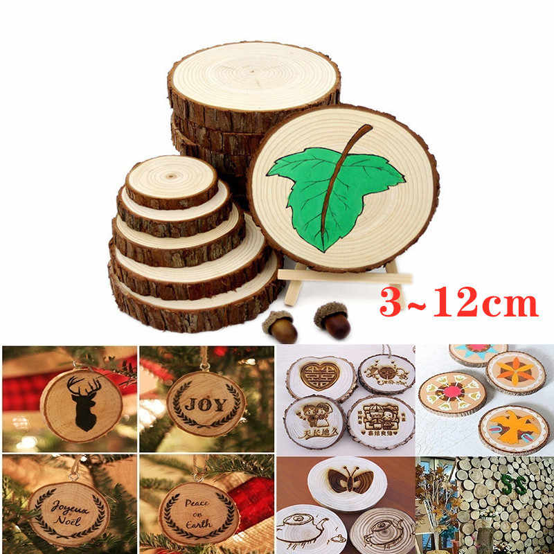 disco de madera aprox Disco de árbol 34-35 x 3 cm