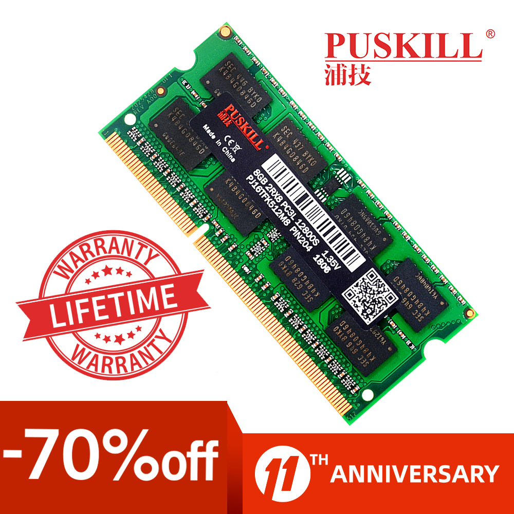 Factory wholesale sodimm DDR3 4GB 8GB 2GB 1333 1600MHZ for Laptop memoria ram 1