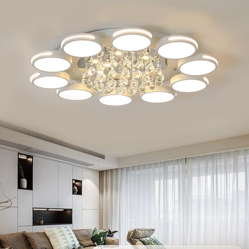 Современные светодиодные потолочные лампы для гостиной спальни Кабинета Хрустальный блеск plafonnier домашний деко потолочный светильник avize
