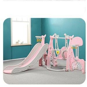 Детская горка и качели, детская крытая игровая площадка для детского сада, пластиковая многофункциональная горка для детей