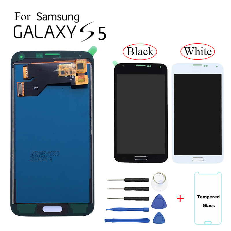 TFT LCD screen For <font><b>Samsung</b></font> S5 G900 SM-<font><b>G900F</b></font> G900M <font><b>Display</b></font> LCD Screen replacement For <font><b>Samsung</b></font> S5 G900A G900T G900W8 lcd <font><b>display</b></font> image