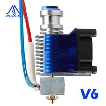 Mellow todo o metal v6 j-head hotend bowden extrusora kit para e3d v6 hotend ventilador de refrigeração bloco suporte impressoras 3d peças voron