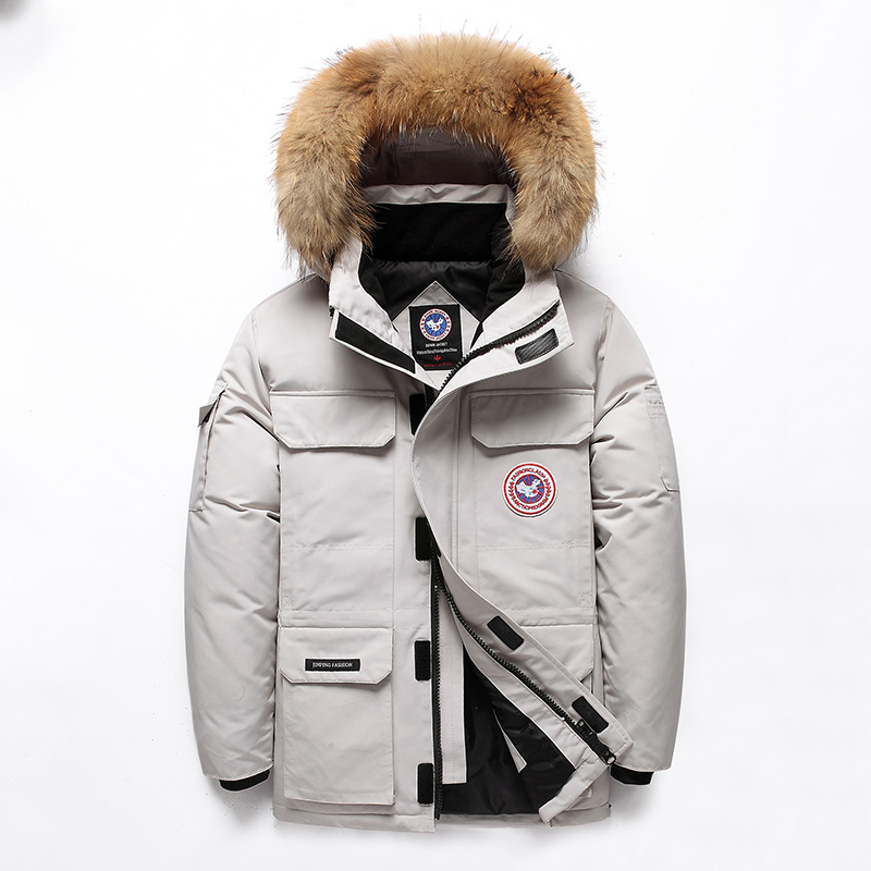 -40 Celsius Down Jacket Real Fur Collar Hooded Thick Parka Down Coat Men Winter Jackets