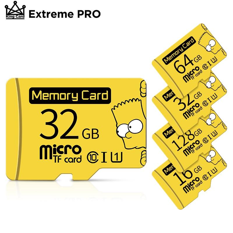 Carte de mémoire micro SD Bart Simpson d'origine, appareil avec des capacités disponibles de 16GB /32GB /64GB et 128GB, classe 10 SDHC UHS-I-TF