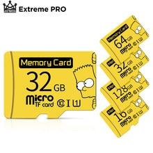Cartão micro sd 32gb 16gb sdhc microsd 128 tf cartões de memória originais do microsd de bart simpson 64gb UHS-I gb microsdxc classe 10 cartão micro sd