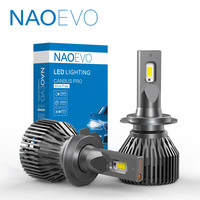 NAOEVO H4 H7 LED CANBUS No Error H11 HB4 H9 NO Hyper Flash HB3 H8 9005 9006 40W 4800Lm White High Power Car Headlight Fog Lamp