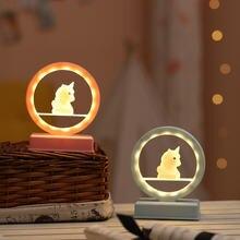 Светильник креативный для девочек сердце Романтическая луна