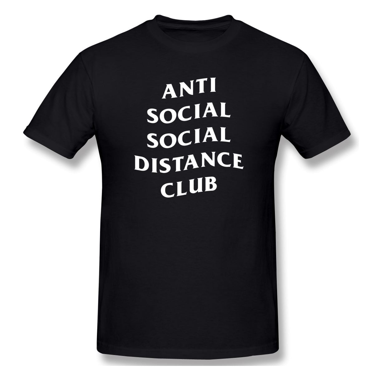 Anti Social Social Distance Club Social Distance Men's Basic Short Sleeve T-Shirt European Size