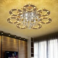 3/5/6/7/9 rings Crystal LED Ceiling Light Living Room Bedroom Dining Room Light Hotel Location Ceiling lamps
