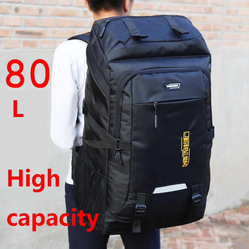 Large Capacity Backpack Men And Women Outdoor Travel Backpack 80 Liters Mountaineering Bag Sports Travel Luggage Computer Bag