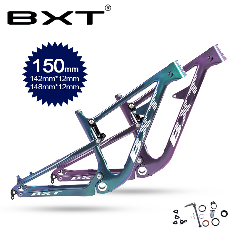 29er MTB Full Suspension Bike Frame BSA Carbon Cycling Downhill Bicycle Frame 142/148mm Boost Shock AM Suspension Frames