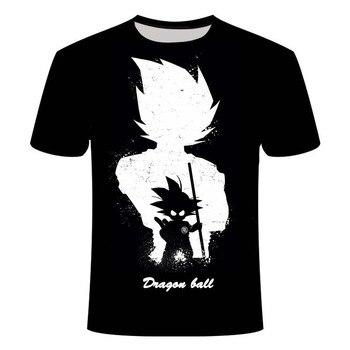 Manga Dragon Ball z Super Saiyan Son Goku Anime Summer 3D Printing Latest Fashion T-shirt Top Men/Boys Cartoon Casual T-shirt dragon ball z t shirt men fashion summer men short sleeve shirt 100