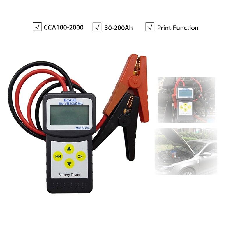 LANCOL MICRO200 Car Battery Tester Auto Tester Tools 12V Multi-language Automotive Diagnostic Tool Car Tester