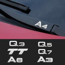 Metal emblem Auto Decor Decals Reflective Car Window Wiper Stickers For Audi A4 TT b8 b7 b9 b5 A6 A3 A8 Q3 Q5 Q7 Q8 Car Styling