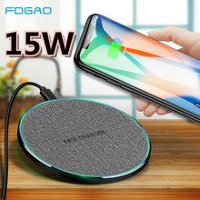 FDGAO Wireless Charger Qi 15W 10W QC 3.0 USB C Fast Charging Pad For iPhone 11 Pro Max XS XR X 8 Samsung S10 S9 S8 Note 10 9 8