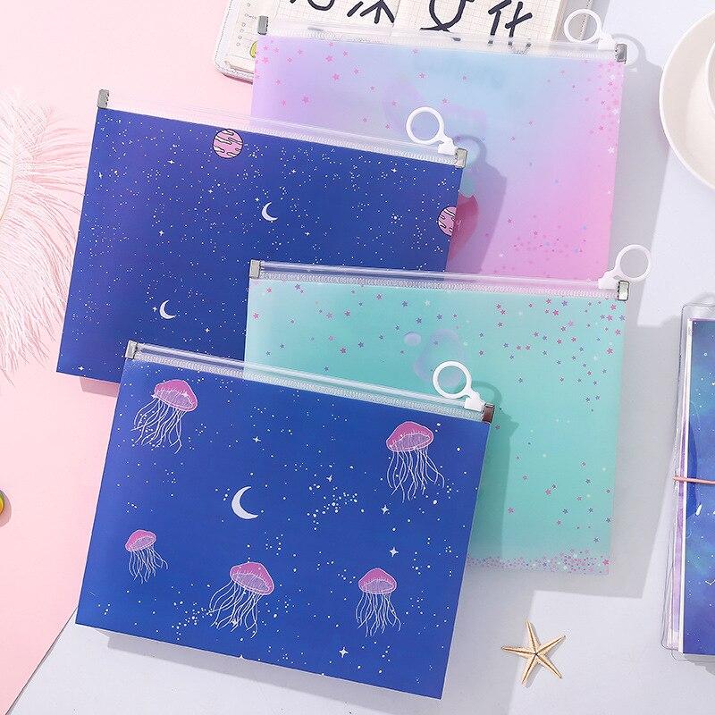 Transparent Kawaii Cartoon Cute Pencil Pouch Pencil Bag Makeup Purse Holder For Girls Cute Stationary School Supplies