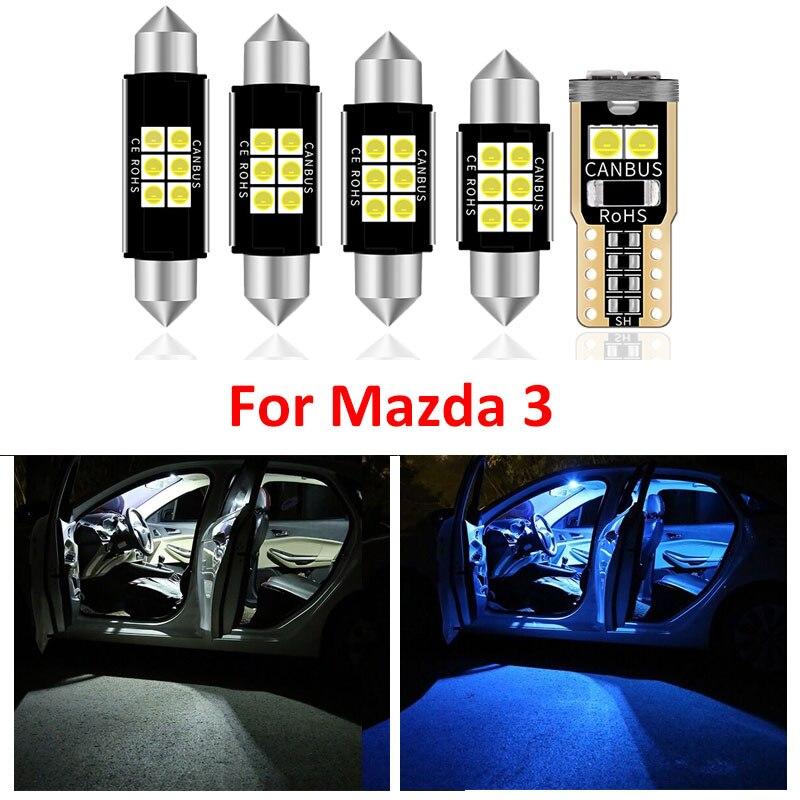8 Pièces Nouvelle Lumière LED Blanche AMPOULES Paquet Kit Pour Mazda 3 2014 2015 2016 2017 2018 2019 lumières de tronc De Voiture Intérieur Lampe Dôme De Lecture