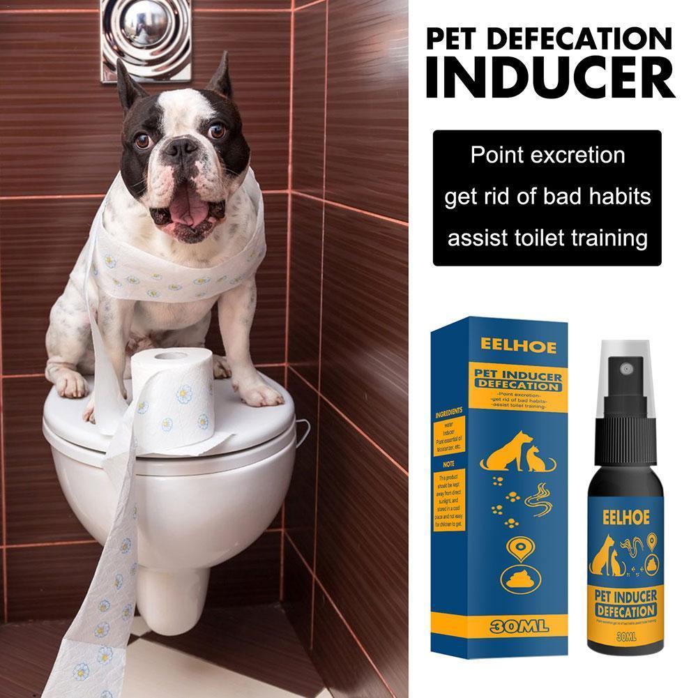 New Hot 30ml Pet Dog Spray Inducer Dog Toilet Training Defecation Training Positioning Spray Puppy Pet Potty X2J0
