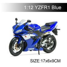 YMH YZF R1 Blue motorcycle model 1:12 scale models Alloy racing Toys Gift Toy
