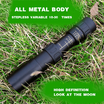 Teleskop monokular logam 10-30x25 zoom berkualiti tinggi