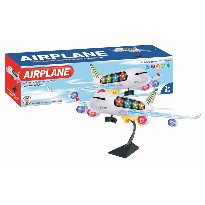 Large Size Universal Wheel Airplane Model Passenger Plane Light Included Light Music Toy Children Boy Model Plane Toy