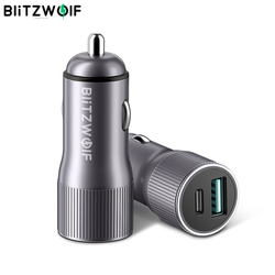 BlitzWolf BW-SD4 Mini Car Charger 2 Ports 36W USB Type-C PD Quick Charge QC3.0 For universal Mobile Phone
